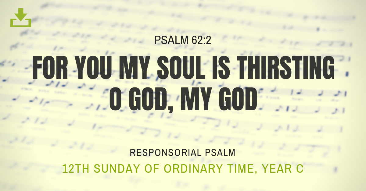 Responsorial Psalm 12th sunday for you my soul is thirsting o god Year C OT