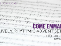 Come Emmanuel – A Simple Song for Advent [Free Download]