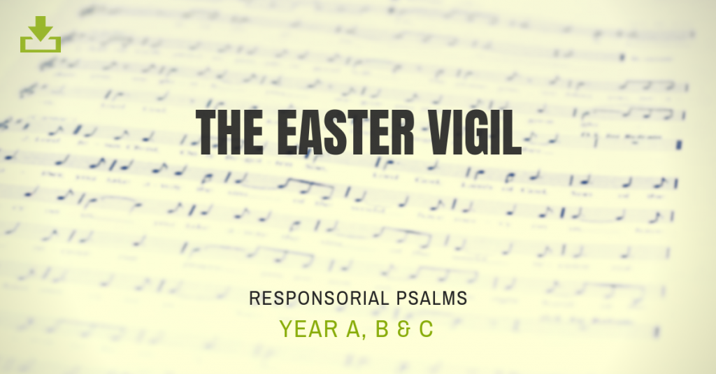 Responsorial Psalm the easter vigil