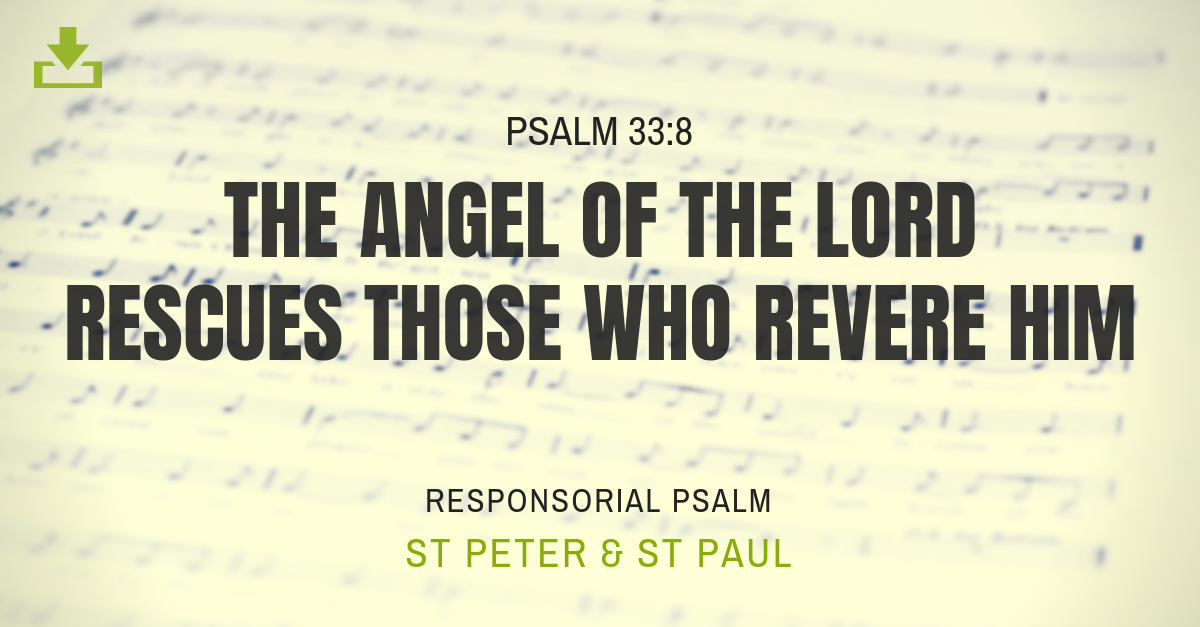 Responsorial Psalm st peter st paul