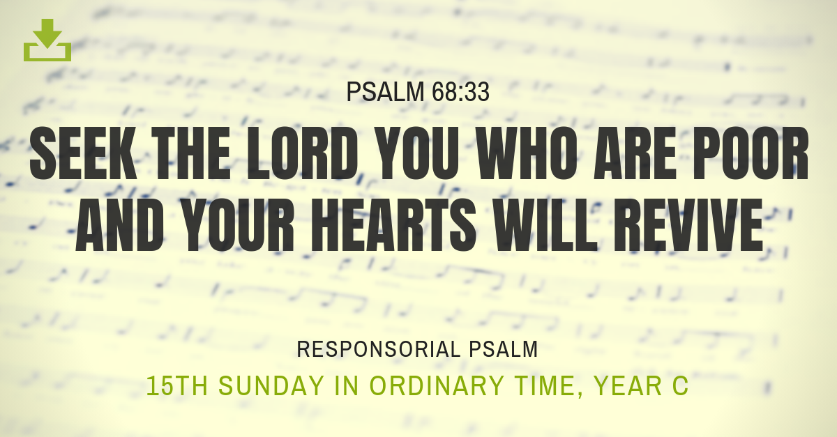Responsorial Psalm Year C 15th sunday ordinary time