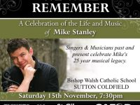 A Concert in memory of Mike Stanley ~ We Will Remember