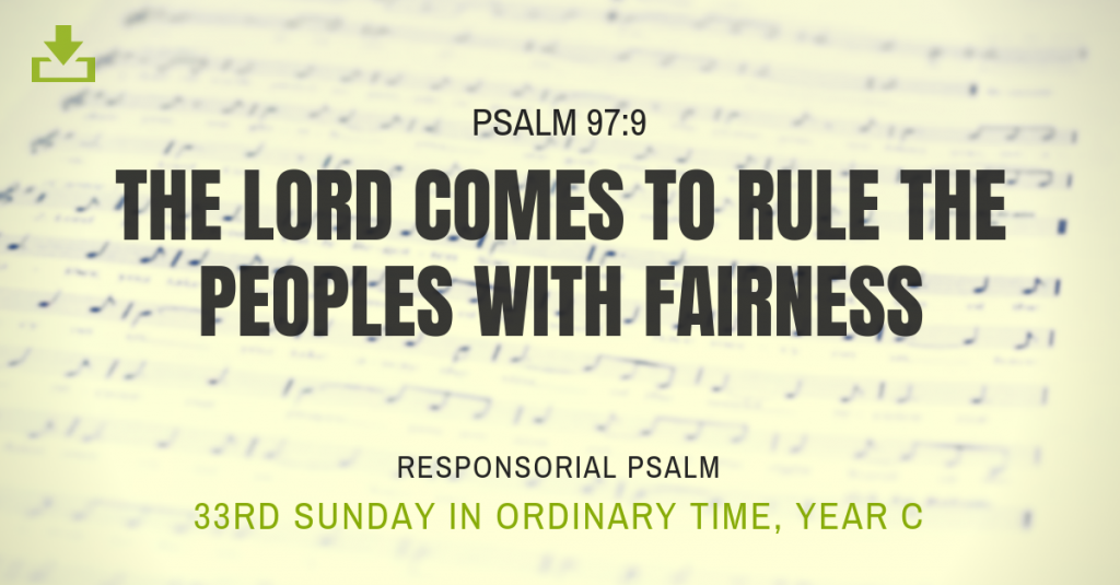 Responsorial Psalm Year 33rd sunday ordinary time