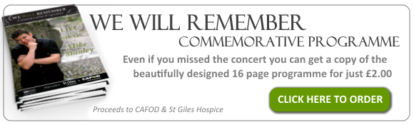 Click here to order a copy of the We Will Remember Commemorative Programme