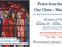 24 Hour Prayer Vigil at St Philip's Cathedral, Birmingham