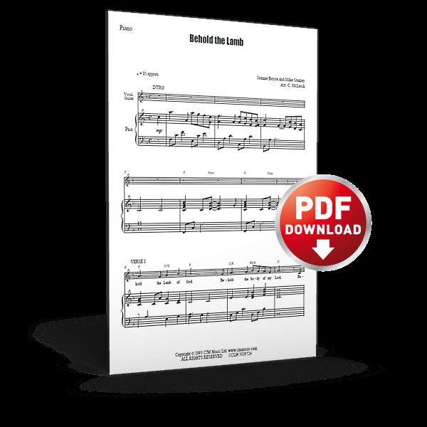 behold the lamb - sheet music - cjm music