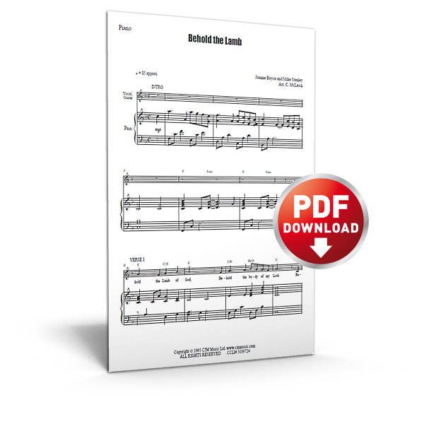 behold the lamb - sheet music - cjm music