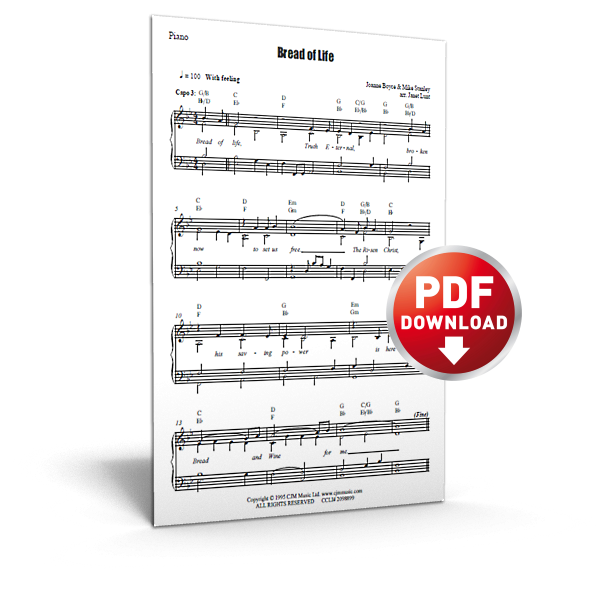bread of life - sheet music - cjm music