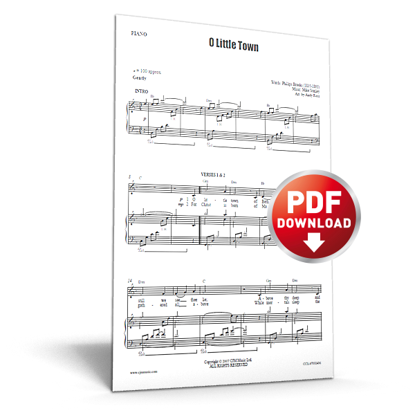 o little town - cjm music - sheet music