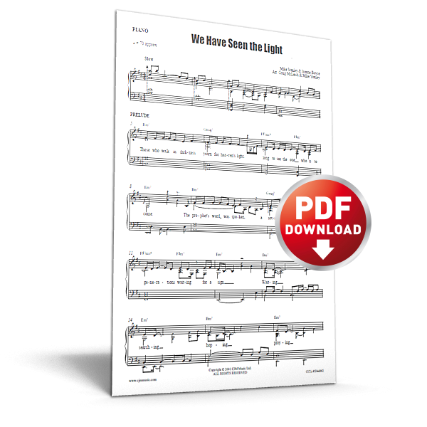 we have seen the light - sheet music - cjm music