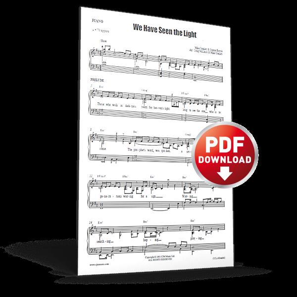 we have seen the light - sheet music - cjm music