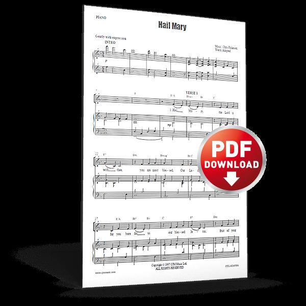 hail mary - sheet music - cjm music