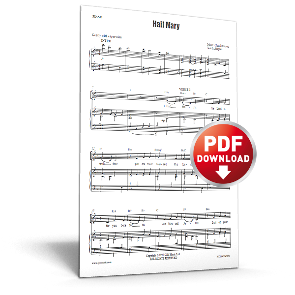 hail mary - sheet music - cjm music
