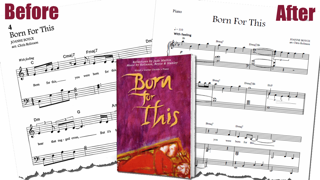 BFT sheet music before after promo - cjm music