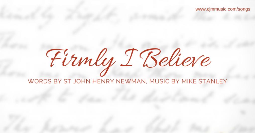 firmly i believe cjm music