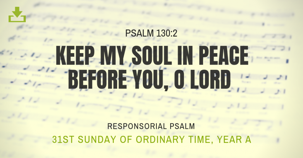 Responsorial Psalm Year A OT 31st sunday